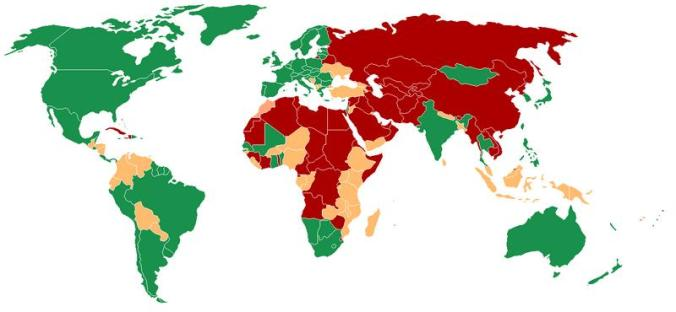 world democracy map